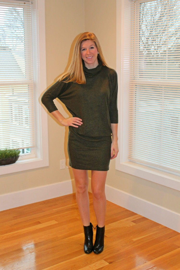 green-knit-dress